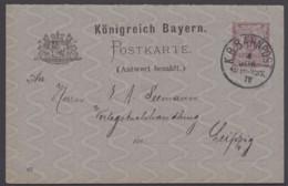 "P 36/02, Bahnpost ""München-Nürnberg"", 1890, Sauberer Bedarf - Bayern"