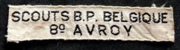 SCOUTISME - Ancien écusson Des Scouts De Belgique 8° AVROY - Blazoenen (textiel)