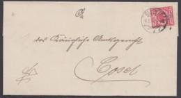 "47 EF Mit Zwischensteg Unten, Sauber ""Gleiwitz"", 1899 - Covers & Documents"