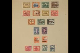 """OFFICIALS  LOCAL PERFINS & HANDSTAMPS 1912-1926 Mint & Used Collection Of Various Stamps With """"OFICIAL"""" Perfins (x28) Or - Guatemala"""