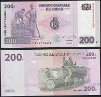 Congo P 99 - 200 Francs 31.7.2007 - UNC - Congo
