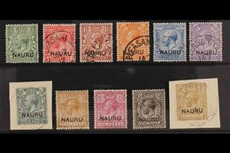 1916-23  Overprints On Great Britain Complete Set With One Of Each Value, SG 1/12, Includes 1½d Red-brown, Fine Used. (1 - Nauru