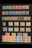 1916-66 MINT & NHM HOARD  Presented On Stock Pages With 1916-23 KGV Set To 1s, 1924-48 Freighter Set Of Values To 1s, 19 - Nauru
