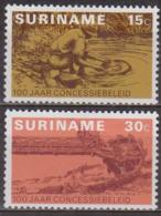 1975 - Mines De Bauxite, Excavateur - SURINAM - Orpailleur, Chercheur D'or - N° 612-613 * - Suriname