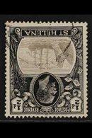 1922-37 'TORN FLAG' WITH INVERTED WATERMARK VARIETY.  ½d Grey & Black WATERMARK INVERTED With TORN FLAG Variety, SG 97gw - Sainte-Hélène