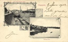 Straits, SINGAPORE, Kallang River, Dry Dock Tanjong Pagar (1903) Postcard - Singapore