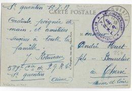 1917 - PRISONNIERS De GUERRE Des REGIONS LIBEREES - CARTE De La 484° Cie P.G.R.L à ST QUENTIN (AISNE) - Marcophilie (Lettres)