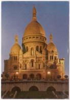 PARIS, La Nuit, Le Sacre-Coeur De Montmartre, 1975 Used Postcard [23584] - Sacré Coeur