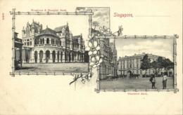 Straits, SINGAPORE, Hongkong & Shanghai Bank, Chartered Bank (1900s) Postcard - Singapore
