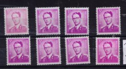 ROI BAUDOUIN ** / MNH N° 1067P3 8 NUANCES DEPART 1,90 - Unused Stamps