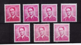 ROI BAUDOUIN ** / MNH N° 1069 P3 7 NUANCES DEPART 1,95 - Unused Stamps