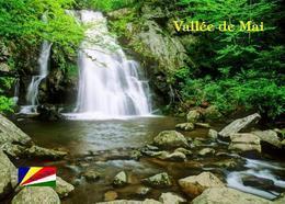 Seychelles Praslin Island Vallee De Mai Park Waterfall UNESCO New Postcard Seychellen - Seychellen