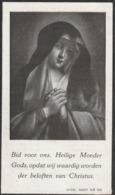 Prentje Lateste-oudenburg 1879-westkerke 1938 - Devotion Images