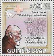 Guinea Bissau Nobel Prize Medicine Santiago Ramón Cajal Spain 1v Stamp MNH Michel:4245 - Famous People