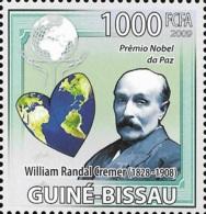 Guinea Bissau Nobel Prize Peace Randal Cremer 1v Stamp MNH Michel:4235 - Famous People