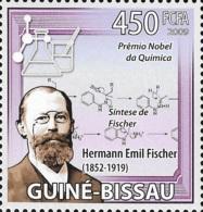 Guinea Bissau Nobel Prize Chemisry Emil Fischer Germany 1v Stamp MNH Michel:4239 - Famous People