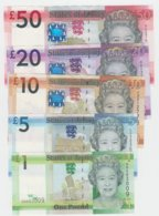 Jersey Banknote D Series £1 & £5 To £50 Jersey Banknotes UNC - Jersey