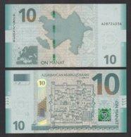 AZERBAIJAN: P#new 10 Azerbaijan Manat 2018 Uncircuated Banknote. - Azerbaïjan