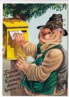 Zuerst Kommt Karten Dann Komm I, Humor Card, Unused Postcard [23596] - Humour
