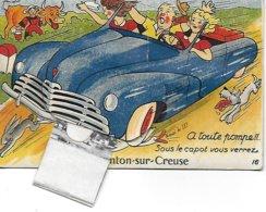INDRE - 36 - ARGENTON SUR CREUSE RARE CARTE POSTALE ANCIENNE  A SYSTEME 10 VUES DEPLIANTES ANNEES 50 COMPLET BON ETAT - France