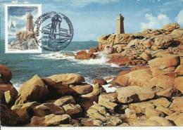 Carte Maximum - France - Phare - Lighthouse - Perros-Guirec - Phare De Ploumanach - Cartes-Maximum