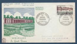 France FDC - Premier Jour - Versailles - Le Grand Trianon - 1956 - FDC
