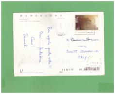 2001 ESPANA BARCELLONA POSTCARD WITH 1 STAMP TO IYALY - 2001-10 Storia Postale