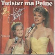 45T. Karen CHERYL - Sandra. Twister Ma Peine - Le Tout Pour Le Tout - T'es Pas Tout Seul - Sans L'oncle Tom - - Other - French Music