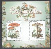 BC919 2011 S.TOME E PRINCIPE NATURE MUSHROOMS COGUMELOS 1BL MNH - Mushrooms