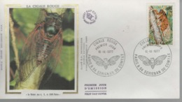 FDC 1er Jour - 10 IX 1977 - CIGALE ROUGE - FDC
