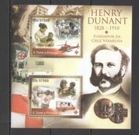 BC921 2011 S. TOME E PRINCIPE RED CROSS HENRY DUNANT 1BL MNH - Henry Dunant