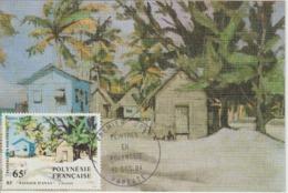 Polynésie Carte Maximum 1984 Peinture 224 - Maximumkarten