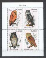 BC937 2011 S.TOME E PRINCIPE FAUNA BIRDS OWLS MOCHOS 1KB MNH - Eulenvögel