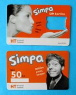 HT-Hrvatski Telekom  * Croatia * Lot Of 2. Cards - 1. Simpa Used SIM Card + 1. Simpa Bon 50.kn - Kroatien