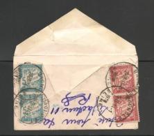 Env Carte De Visite SEMEUSE PARIS/BAGNOLET 1938 Taxe 70c Deux Compositions DUVAL (réex,refusé, Retour à L'envoyeur)! - Impuestos