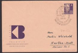 Leipzig Karl-Marx-Jahr 1953, DDR Privatumschlag 6 Pfg. Gerhart Hauptmann DDR Arge Ganzsachen 25.10.53 - Enveloppes Privées - Oblitérées