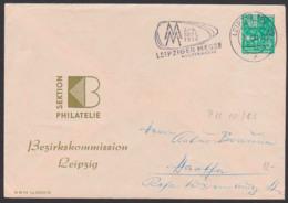 Leipzig Leipziger Messe 1956, DDR Privatumschlag 5 Pfg. 5-Jahrplan DDR Sektion Philatelie Im Kulturbund 5.7.56 - Enveloppes Privées - Oblitérées