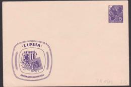 Leipzig Briefmarkenschau 1954, Sachsen-Dreier, DDR Privatumschlag 6 Pfg. 5-Jahrplan DDR PU 11/03 - [6] Repubblica Democratica