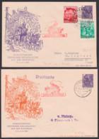 Pfingsttreffen Auf Der Wartburg Gotha - Eisenach, DDR Privatumschlag 6 Pfg. 5-Jahrplan DDR Postkutsche 5. Bzw. 6.6.54 - Enveloppes Privées - Oblitérées