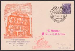 Pfingsttreffen Auf Der Wartburg Eisenach, DDR Privatumschlag 6 Pfg. 5-Jahrplan DDR Lutherhaus Postkutsche Eisenach-Gotha - [6] Repubblica Democratica