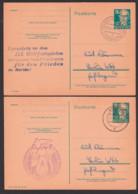 Propaganda Stpl. III. Weltfestspiele  Der Jugend Und Studenten Für Frieden 1951 In Berlin, 2 GA Artern, Bad Blankenburg - [6] Democratic Republic