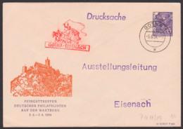 Pfingsttreffen Auf Der Wartburg Gotha - Eisenach, DDR Privatumschlag 6 Pfg. 5-Jahrplan DDR Postkutsche Ruhla 5.6.54 - Enveloppes Privées - Oblitérées