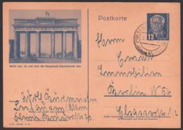 Bildpostkarte Berlin Brandenburger Tor DDR P47/01 Hauptstadt Deutschlands, Seehausen Altmark  N. Belin N54 - Postales - Usados