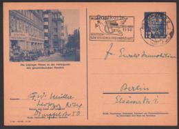 Bildpostkarte Leipziger Messe DDR P47/03 Gesamtdeutsche Handel, MWSt. Monat Der Deutsch-Sowjetischen Freundschaft - Postales - Usados