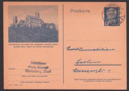 Bildpostkarte Wartburg Wo Luther.. DDR P47/04 Deutsche Schriftsprache Bibelübersetzung, Rheinsberg (Mark) 13.11.50 - Postkarten - Gebraucht