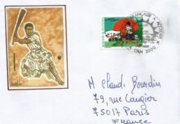 Célébrons Le Cricket Aux îles Wallis & Futuna, Océanie, Belle Lettre 1 Er Jour An 2000 (01-01-2000), Adressée En France - Cricket