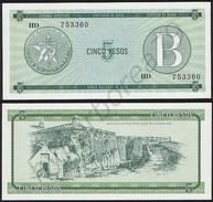 Cuba P FX7 - 5 Pesos 1986 - UNC - Cuba