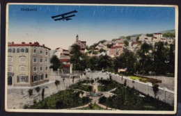 CROATIA - METKOVIC Airplane Over City OLD POSTCARD 1937 TPO Zelenika - Sa (see Sales Conditions) - Kroatië