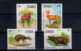 MDA -07102019_0009 MINT ¤ CONGO 1994 KOMPL. SETS ¤ ANIMALS OF THE WORLD - WILDE DIEREN - Animalez De Caza