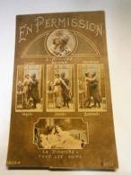 Guerre 14-18,militaire, Patriotisme,en Permission,écrite Environ 1916,TBE,colorisée - Patriotiques